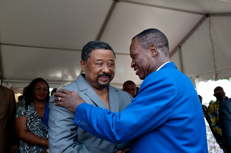 René Ndemezo_Obiang (à droite) et Jean Ping